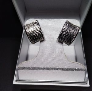 Jewelry - Brand New Stainless Steel Etched Earrings